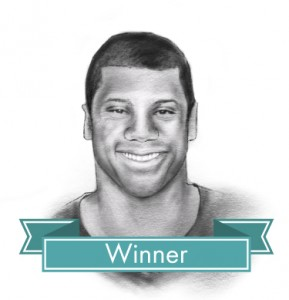 Russell Wilson line drawing