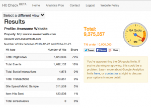 image of hitcheck tool showing 9.3 million hits out of 10 million